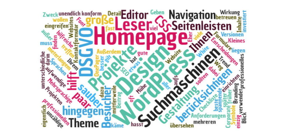 Homepage Design optimieren