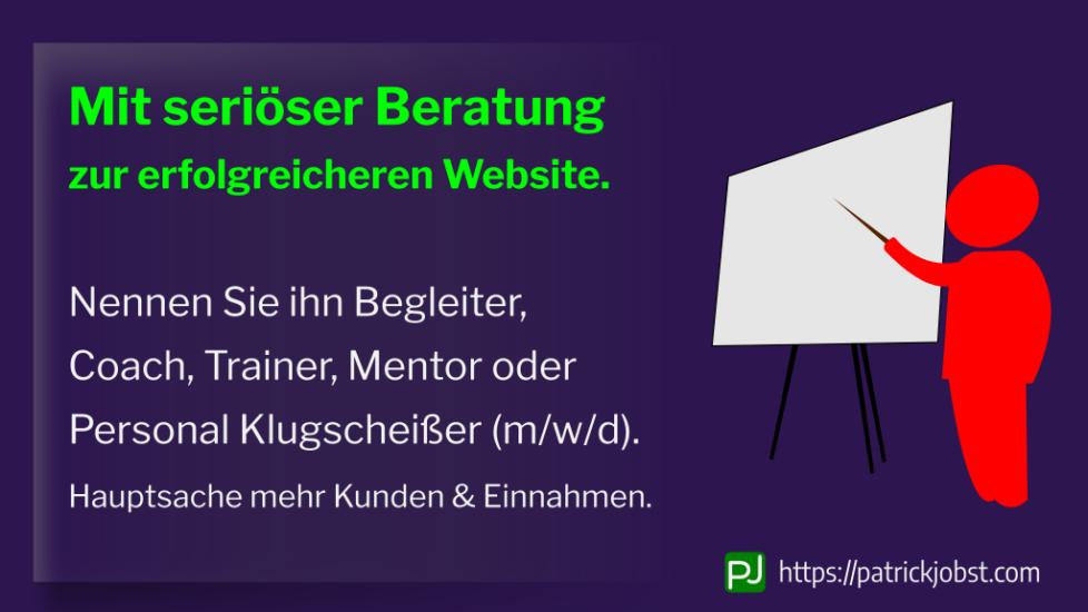 Mit einem erfahrenen Berater eine bessere Website erstellen