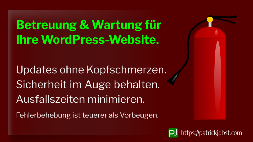 WordPress Website Betreuung & Wartung