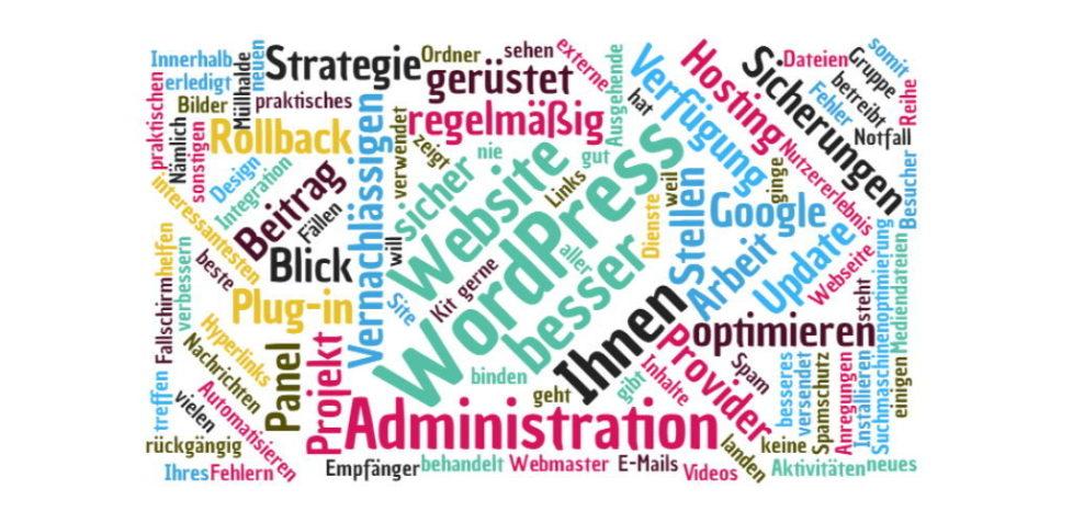 Website Administration verbessern